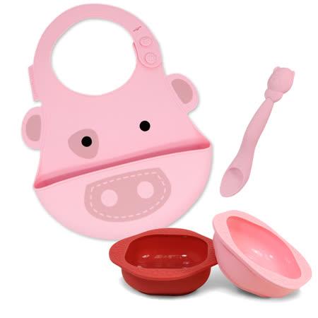 【MARCUS&MARCUS】幼幼寶貝用餐組(圍兜+餵食湯匙+餐碗2入)  多款組合可選