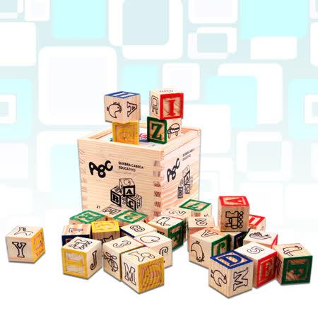 【FunKids】ABC圖案識別學習盒裝積木(27PCS)