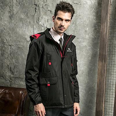 Valentino Rudy范倫鐵諾.路迪防水透氣連帽機能外套-黑+紅