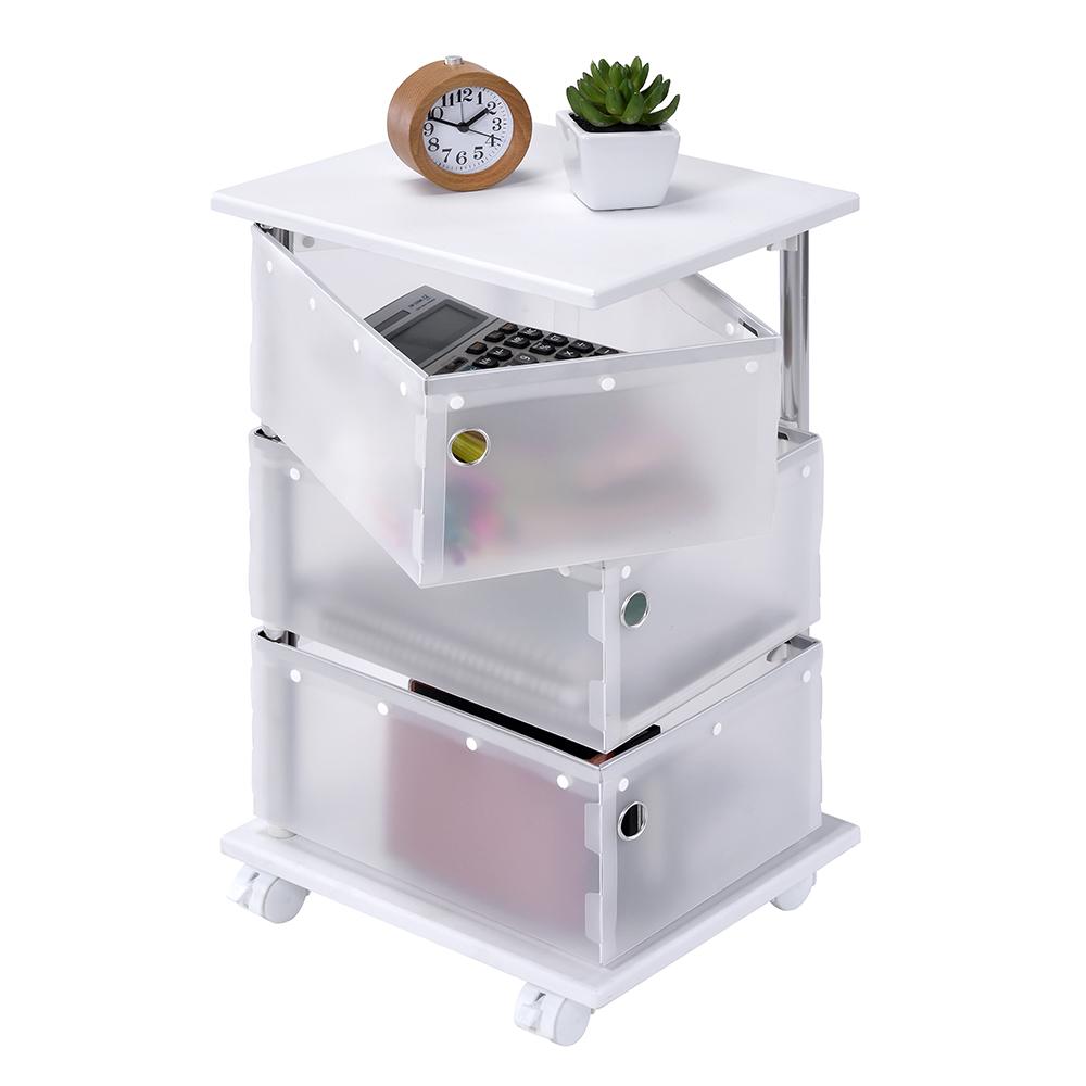 可旋轉式置物收納盒。旋轉式設計拿東西時更方便且不占空間,強調收納的概念