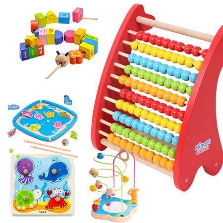 團購-任選有趣好玩木玩具(4入)