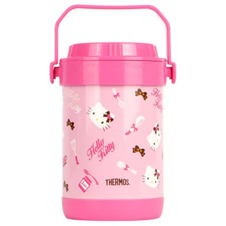 THERMOS膳魔師 Hello Kitty不鏽鋼真空燜燒鍋1.5L