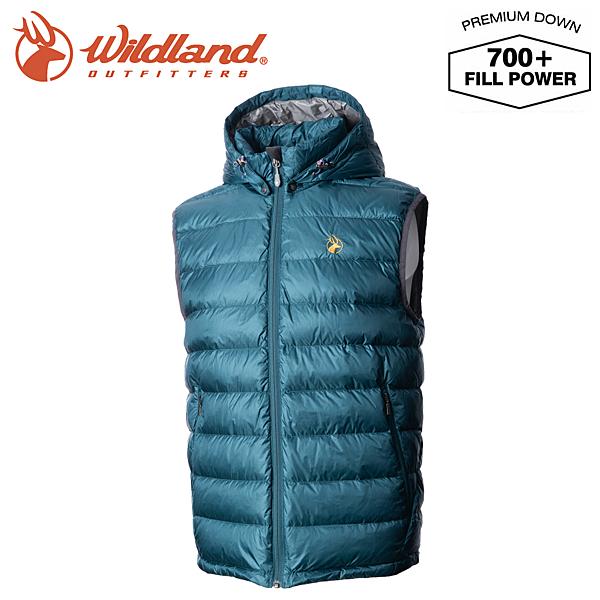 Wildland 荒野 男款 700FP拆帽極暖鵝絨背心 藍綠 0A72172-47