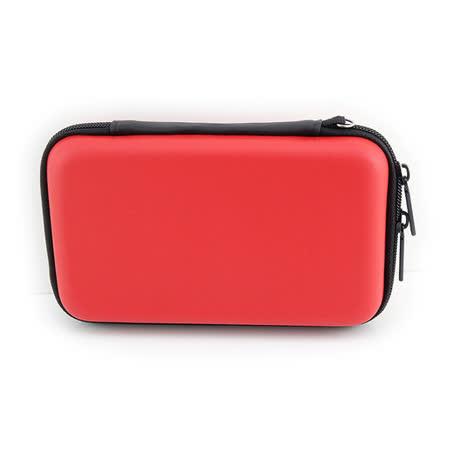 PUSH!3C相關用品3C隨身用品包移動電源硬碟保護套手機耳機包收納包(紅色中號一入)U45-1