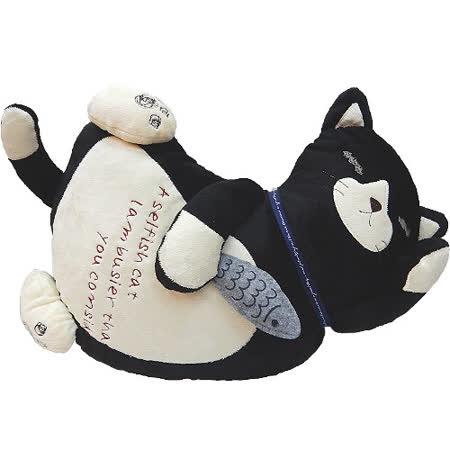 【波克貓哈日網】日系抱枕◇kusuguru shippo◇睡眠貓咪《黑色》