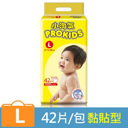 【小淘氣】透氣乾爽紙尿褲-L (42片x4包)