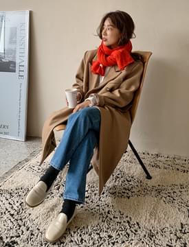 韓國空運 - Lauren Wool Double Boxy Long Coat 大衣