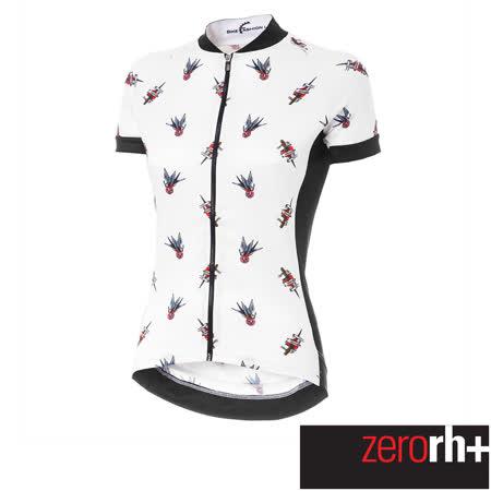 ZeroRH+ 義大利美式復古刺青圖騰系列女仕專業自行車衣(白色) ECD0666_61P