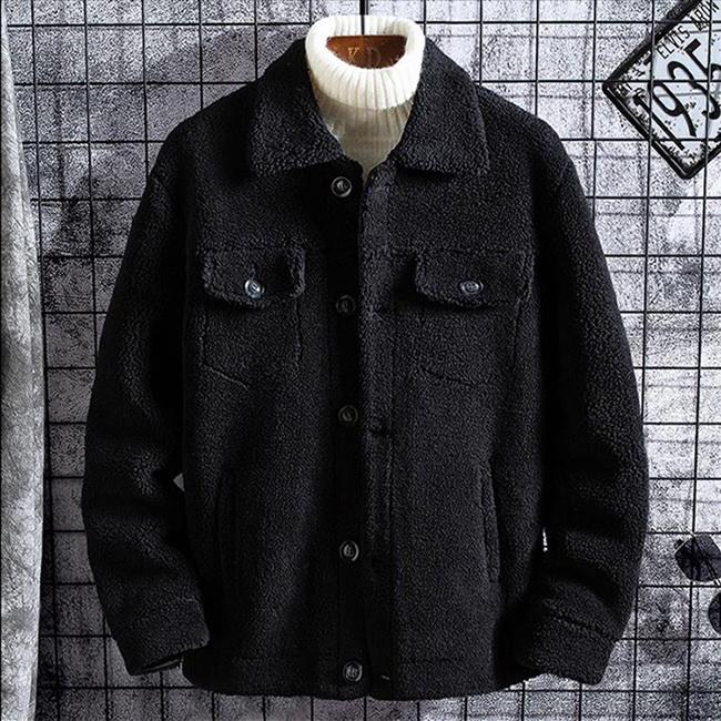 FOFU-休閒外套百搭羊羔毛雙口袋加棉休閒外套【08B-F0723】