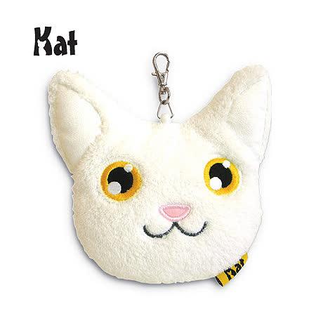 Kat貓咪證件零錢包-白