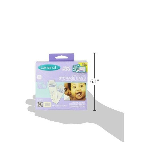 【onemore】代購正品 美國國內銷售第一名獲獎品牌 Lansinoh 雙層夾鏈站立式母乳袋 100入 哺乳/奶水袋/儲存袋