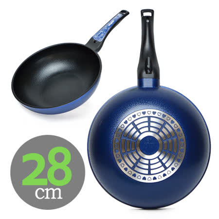 【百貨通】SAEMMI陶瓷不沾炒鍋28cm