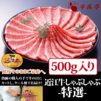 牛肉 しゃぶしゃぶ 近江牛 特選 500g入り お肉ギフト のしOK