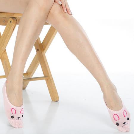 【KEROPPA】吸濕/止滑/減壓竹炭隱形襪*6雙(男女適用)503-3-粉紅