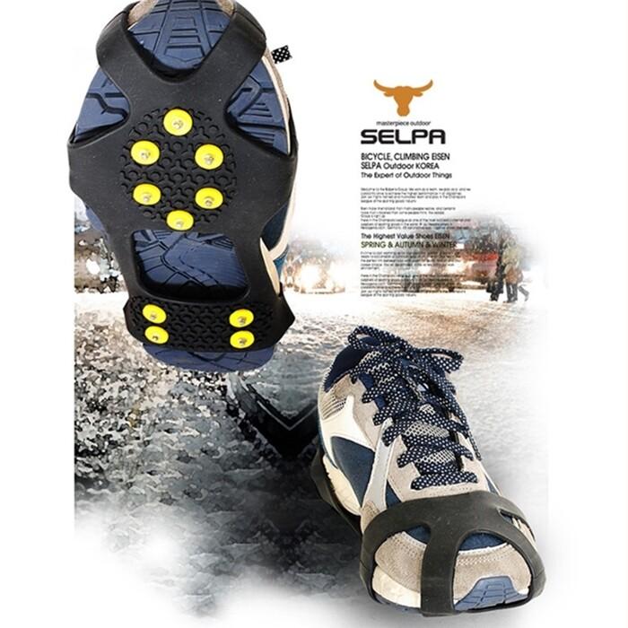 10齒冰釘 冰爪 防滑鞋套 雪地鞋套 一雙入 男女適用
