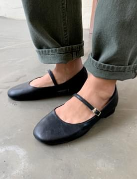 韓國空運 - Hold round mary-jane shoes_C 平底鞋