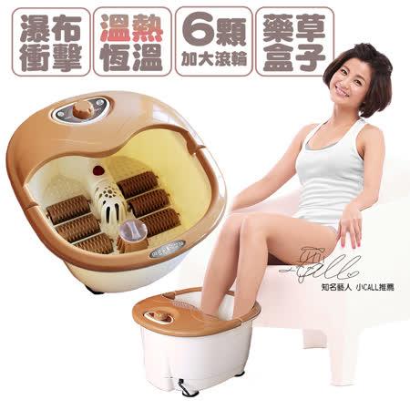 【GTSTAR】陶瓷芯片加溫型泡腳按摩機(六顆滾輪)-顏色隨機
