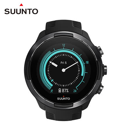 SUUNTO 9 Baro Black 堅固強勁,超長電池續航力 及 氣壓式高度 的多項目運動GPS腕錶【經典黑】