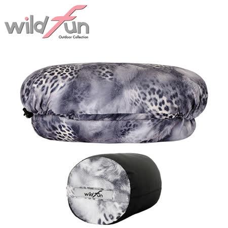 WildFun 野放可調式舒適頭枕 PA007 灰色豹紋