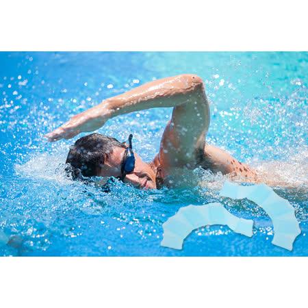 矽膠游泳訓練隱形划水手指蛙蹼