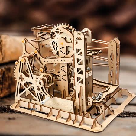 《 Robotime 》3D立體木製拼圖 滾珠系列 - LG503 昇降機 Lift Coaster