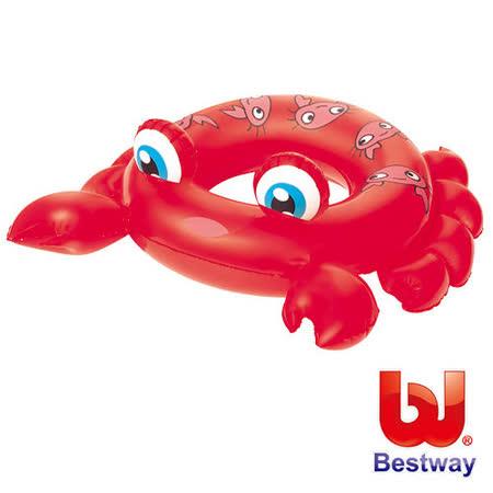 (購物車)《購犀利》美國品牌【Bestway】水中生物可愛造型充氣泳圈-螃蟹、青蛙、魟魚