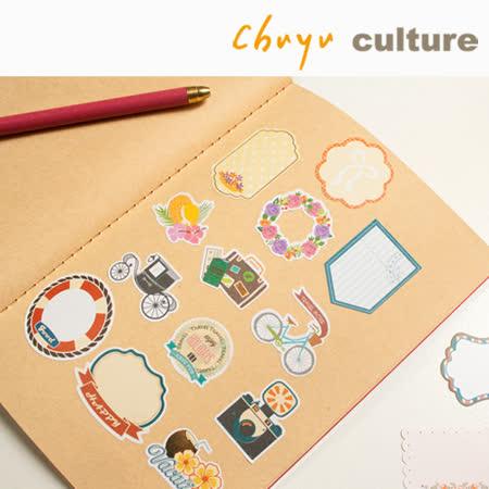 珠友 ST-30054 裝飾貼紙包/手帳 日誌 相冊 日記 禮品 卡片裝飾貼/32入