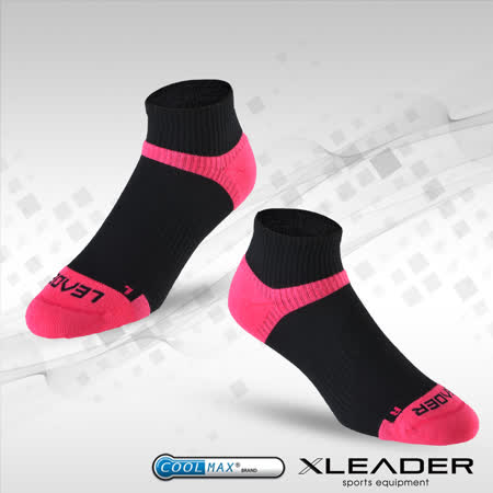 LEADER ST-06 Coolmax專業排汗除臭 機能運動襪 女款 黑桃