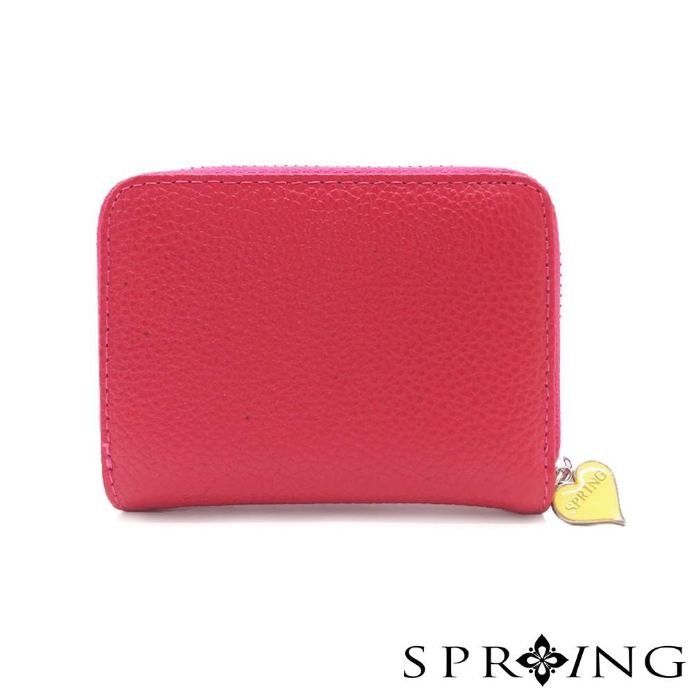 SPRING-低調的三層多用鑰匙零錢包-高調桃紅