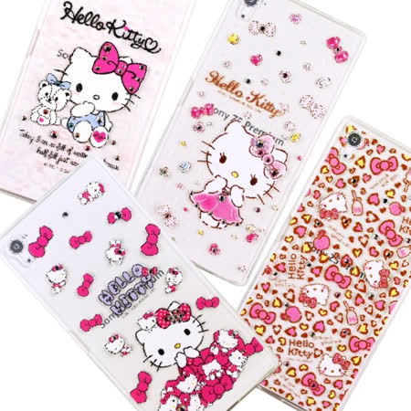 【Hello Kitty】Sony Xperia Z5 Premium (5.5吋) 彩鑽透明保護軟套