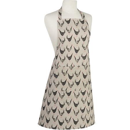 《NOW》平口單袋圍裙(黑羽雞)