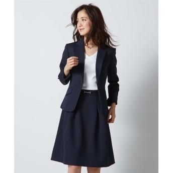 変り織スカートスーツ テーラードジャケット+タックフレアスカート レディース