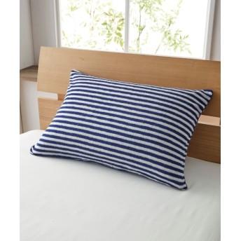 【消臭加工付】綿100%タオル地のL字ファスナー枕カバー(ボーダー柄) 枕カバー・ピローパッド, Pillow covers, 枕套(ニッセン、nissen)