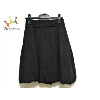 フォクシー FOXEY バルーンスカート サイズ38 M レディース 黒×ダークグレー  値下げ 20200131