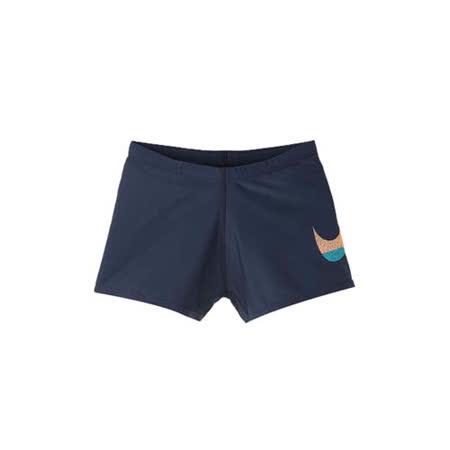 (男) NIKE SWIM 孩四角泳褲-平口泳衣 游泳 海邊 丈青水藍橘