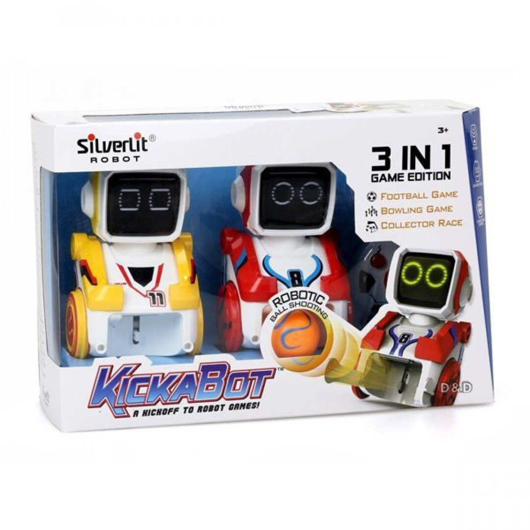《Silverlit 方程式》方程式踢球機器人(雙人組) 東喬精品百貨