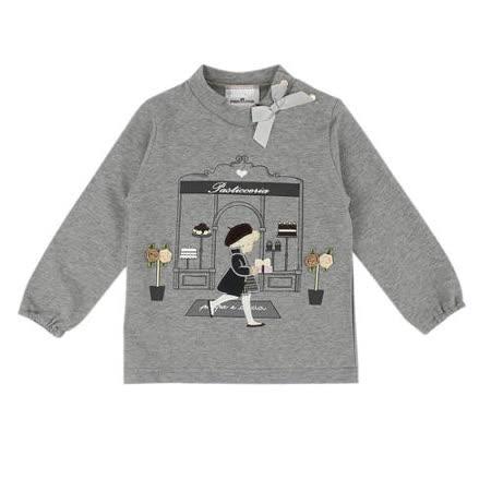【愛的世界】pappa&ciccia 時尚名媛系列純棉立領長袖T恤/2~4歲-台灣製-