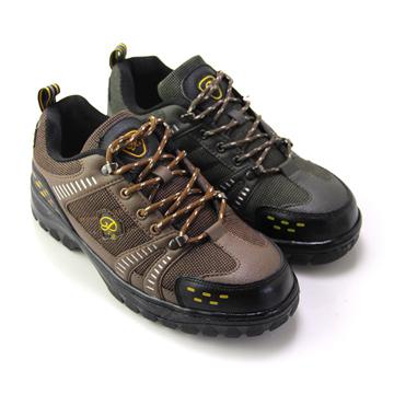 GREEN PHOENIX 台灣製個性雙色綁帶安全鋼頭工作鞋 男鞋 T7-17506