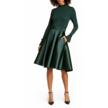 テッドベーカー TED BAKER LONDON レディース ワンピース ワンピース・ドレス Zadi Long Sleeve Fit and Flare Dress Dark Green