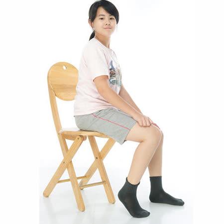 【KEROPPA】可諾帕7~12歲學童專用毛巾底氣墊短襪x4雙(男女適用)C93002深灰