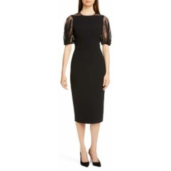 レラ ローズ LELA ROSE レディース ワンピース ワンピース・ドレス Lace Back Sheath Dress Black