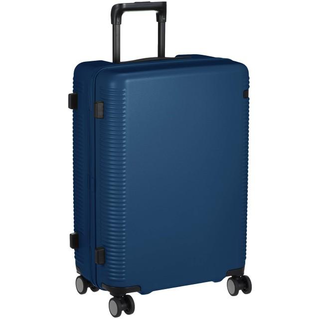 [エース] スーツケース ウォッシュボード 日本製 キャスターストッパー付 ダブルホイール 04066 60L 59 cm 4kg 藍ネイビー