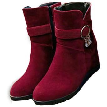 [GHJC] 卒業式袴ブーツ レースアップ 25.0cm ブーツ ショートブーツ 編み上げブーツ ウエッジソールブーツ 黒レッド ブラウン レディース靴 赤 ひも靴 歩きやすい 秋冬