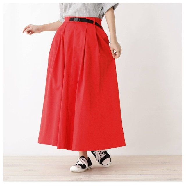 【シューラルー/SHOO・LA・RUE】 ボリュームチノスカート