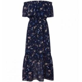 ユミ Yumi レディース ワンピース マキシ丈 ワンピース・ドレス Dragonfly Print Bardot Maxi Dress Navy