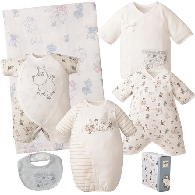 新生児 赤ちゃんのための準備品 お楽しみ6点セット ムーミン ベビー・キッズウェア 新生児・乳児(50~80cm) 新生児衣料セット (17)