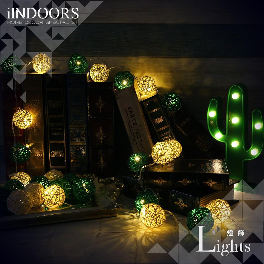 英倫家居 創意籐球燈飾燈串 小鹿森林 電池款 LED氣氛燈 聖誕節交換禮物 情人節 浪漫婚禮 生日派對 似棉球燈