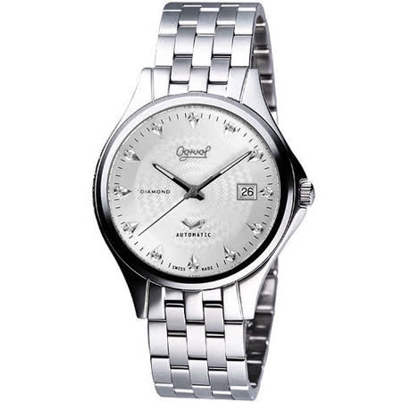 Ogival 愛其華 紳士真鑽機械錶-銀 829-24AJGS