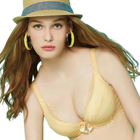 【思薇爾】啵時尚系列A-E罩蕾絲包覆內衣(霞金色)