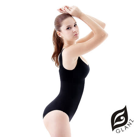 【GLANZ 格藍絲】320丹魅力女王顯瘦平腹美腰連身翹臀連身塑身衣*2件組